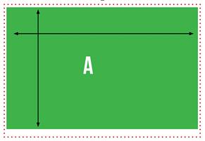 rechthoek-kunstgras-stuk