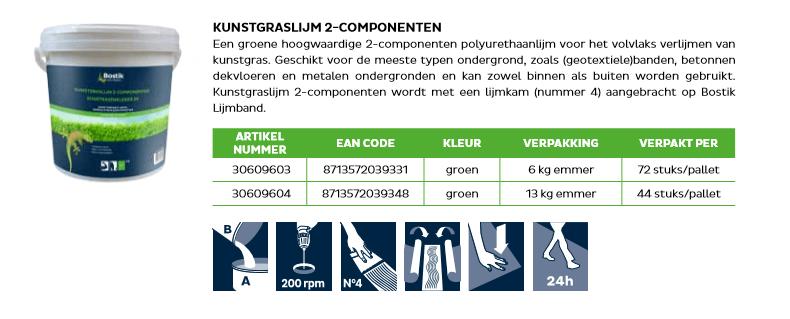 kunstgras lijm 2 componenten